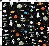Mond, Weltraum, Planet, Planeten, Liebe, Lied Stoffe -