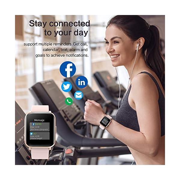 GRDE Reloj Inteligente Hombre Mujer, Smartwatch Fitness 24H Monitor de Oxigeno(SpO2)/Ritmo Cardíaco/Sueño 5ATM… 7
