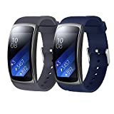 Rukoy Courroie pour Samsung Gear Fit2 Pro SM-R365/Gear Fit2 SM-R360 [2-Pack]