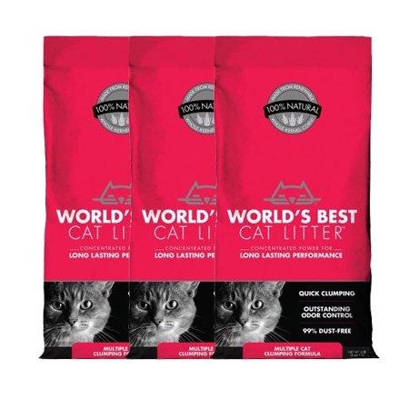 World's Best Cat Litter Multiple Cat Clumping Formula (8 lbs), 3 Pack