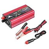 Qiilu Inversor de Corriente 1500W para Coche Transformador De 12v A 220v Convertidor Onda sinusoidal con Puertos USB De 3,1