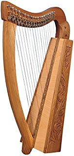 19 Cuerdas Trinity nogal Arpa, 19 Strings Celtic Irish Harp, Irish Lever Harp