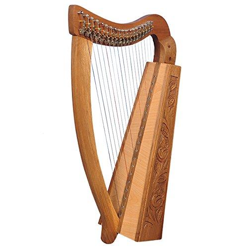 19 Saiten Trinity Walnuss Harfe, 19 Strings Celtic Irish Harp, Irish lever Harp