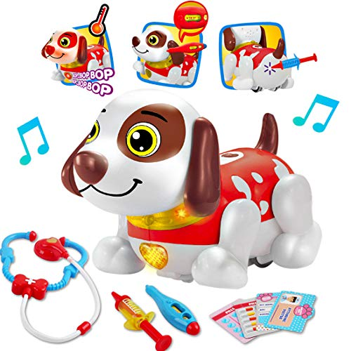 deAO Mascota Interactiva para Practicar Inglés Actividad Infantil de Aprendizaje con Perrito...