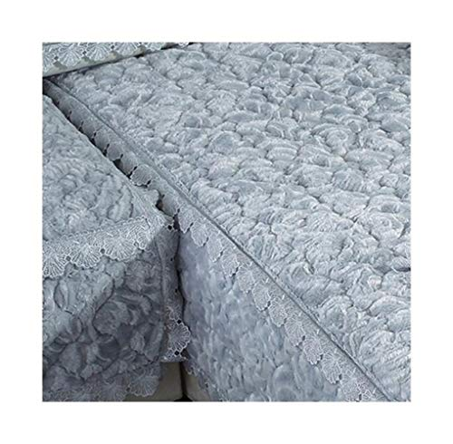 ASVNDD Verdicken Plüsch-Sofa-Abdeckung Spitze rutschfest Slipcover Sitz European Style Couch Abdeckung Sofa Tuch for Wohnzimmer-Dekor (Color : E, Specification : 45x45cm Pillowcase)