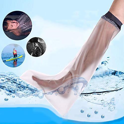 WHYTT Gipsschutz Wasserdicht Bein, Duschüberzug Fuß Beinschutz für das Halbe Bein beim Baden, Kurzer Wasserdichter Beinprotektor für Gips-und Verbandschutz beim bei Dusche & Bad Erwachsene