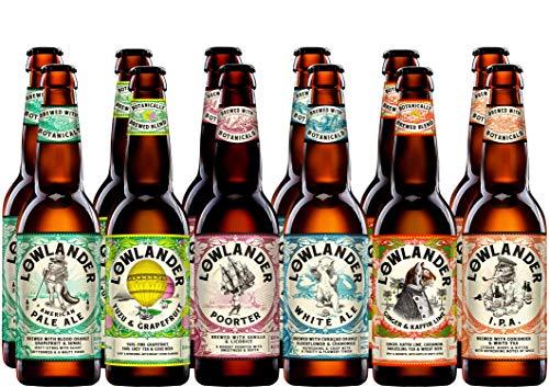 Holländisches Bier Paket von Lowlander mit 12 Bieren: Craft Bier, Craft Beer, IPA, Pale Ale, Porter, White, Ale, Gewürzbier, Ingwerbier