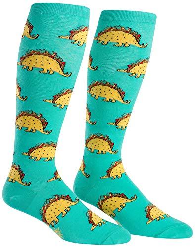 Wide Calf STRETCH-IT Knee High Tacosaurus Socks