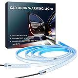 Aokeou Autotür-LED-Warnleuchte, 2 PCS 48cm flexible zweifarbige Streifenleuchte, weiße und rote...
