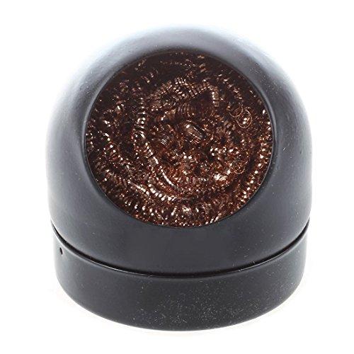 TOOGOO(R) Limpiador de boquilla de hierro de limpieza de punta de soldador con bola de esponja con soporte