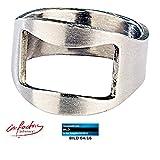 infactory Brieföffner: Flaschenöffner-Ring mit 20mm Innen-Durchmesser (Bieröffner Ring)