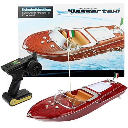 FunTomia | Motorboot in toller Holzoptik | Ferngesteuertes Boot für Kinder | einfachste Steuerung (Komplett Boot)