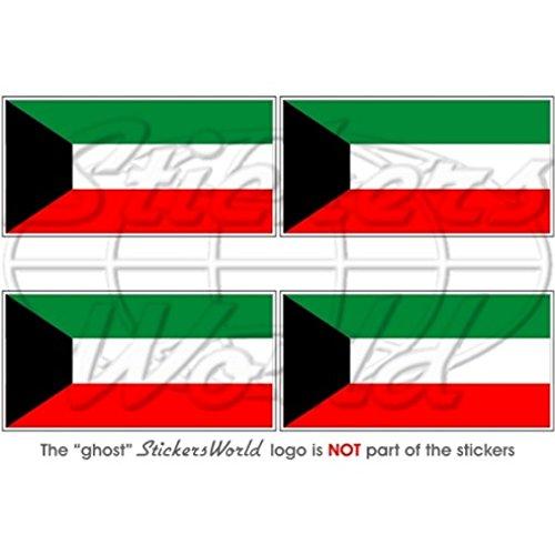 Koweït Drapeau koweïtienne kuwaitian 5,1 cm (50 mm) bumper-helmet en vinyle autocollants, Stickers x4