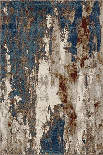 Luxe Weavers Lagos Collection Passion 8x10 Abstract Area Rug