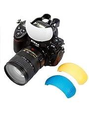 SHOPEE BRANDED 3 Color Pop Up Hot-Shoe Flash Diffuser Set for DSLR Cameras (CANON, NIKON)
