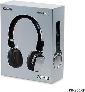 سماعات V4.1 بلوتوث 200HB، سماعات ستيريو لاسلكية قابلة للطي من الجلد الكلاسيكي مع ميكروفون REMAX