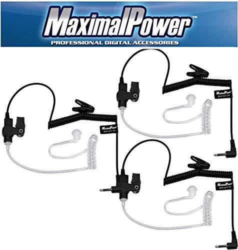MaximalPower 3,5 mm Ontvanger/luisteren alleen bewaking headset oordopjes 3pcs