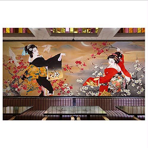 Cczxfcc, Japanse sushi-keuken, shop-behang, restaurant-hotel-hema-pakket, wand-achtergrond-wand, 3D Japans muggenbehang 200 x 140 cm.
