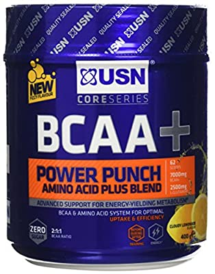 USN BCAA Power Punch Performance and Stamina Drink Powder - 400 g from USN