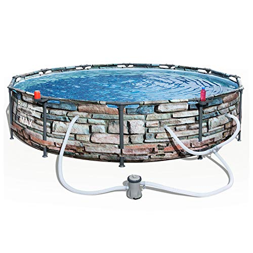 Bestway 56817E 12-ft x 30-in Steel Pro Max Round Swimming Pool Only $164.99 (Retail $379.99)