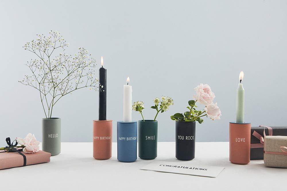 Fine Bone China Lettere di design vaso preferito YOU ROCK Nero Taglia unica