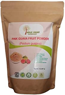 100% Natural Pink Guava Fruit Powder, 2 LB, Eco-friendly Resealable pouch, No Artificial Flavors/Preservatives/Fillers, Ha...