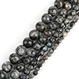 kunle : Pick Size 4/6/8/10mm Moonstone Bead Gem Stone Black Moon Stone Round Faceted Loose Beads for Jewelry Making 15'Strand