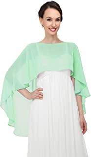 Shawls and Wraps for Evening Dresses Chiffon Wedding Capes Soft Shrugs