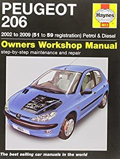 Peugeot 206 Petrol and Diesel Service and Repair Manual: 2002 to 2009 (Haynes Service and Repair Manual) by Pete Gill (2013-11-01)