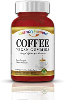 Vitamin Friends - Energy Supplement, Caffeine Gummy to Boost Energy and Alertness, Support Mental Clarity, Weight Loss, and Appetite Suppressant - Vanilla Latte Coffee, 10mg of Caffeine, 60 Count