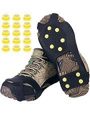 Tevlaphee Ramponi,Ice Tacchetti Trazione Antiscivolo su Scarpe/Stivali 15 Borchie Neve Ghiaccio Ramponi Tacchetti Spikes