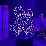 Anime 3D lampe acrylique Hunter X Hunter Killua et Gon pour chambre décor veilleuse cadeau d'anniversaire Led veilleuse Manga Hxh Killua-Touch contrôle