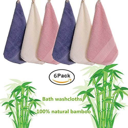 Baby Washcloths Bamboo, 100% Natural Organic Cotton Kids Washcloth and Towels Set for Todders/Infant/Newborn. Perfect for Baby Travel Bathing Kits 12