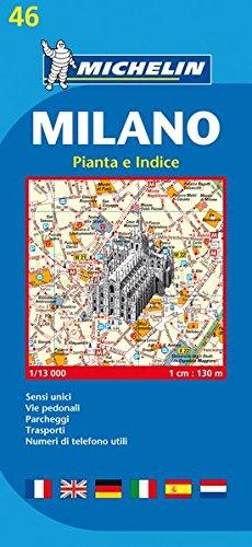 Michelin Milano: Stadtplan 1:13.00 (MICHELIN Stadtpläne)