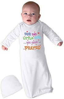 Cute Rascals for This Little Girl We Have Prayed Cotton Newborn Sleeping Gown One Piece