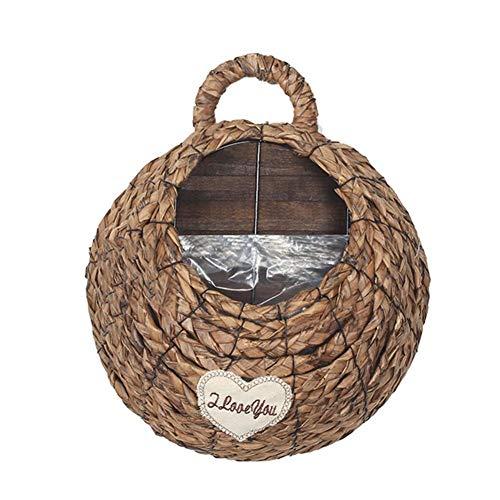 chinejaper Geweven hangmand, handgemaakte mand, hangende opbergmand van bamboe, bloempot voor tuin, bruiloft, wanddecoratie