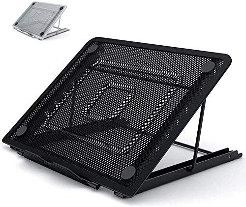 HIGHKAS Hubanpassung Tragbarer Notebookständer Faltbarer tragbarer Notebook-Rack-Support für Home Office Schwarz