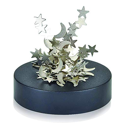 ArtCreativity Magnetic Moons and Stars Sculpture, Set of 2, Fun Office Desk Accessories,...