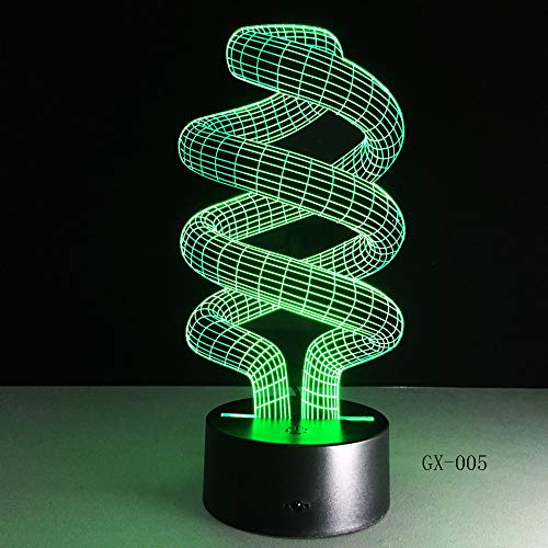 LWJZQT nachtlampje, abstractie, 3D, nachtlampje, LED-lamp, DC 5 V, USB, decoratief, tafellamp, kunst, speciaal voor thuiskantoor en party