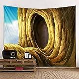 Cueva Bosque Mandala Tapiz indio Montaje en pared Estera de yoga bohemia Alfombra de playa Manta Tela de fondo A3 180x230cm