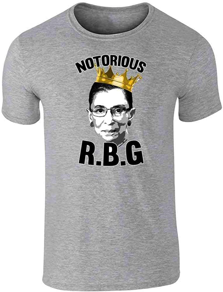 Notorious R.B.G. RBG Supreme Court Political Gray 2XL Graphic Tee T-Shirt for Men