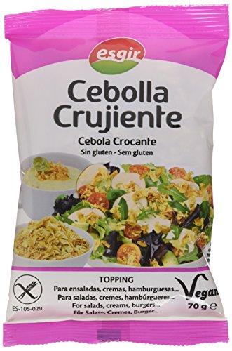 Esgir Cebolla Crujiente sin Gluten - Paquete de 14 x 70 gr - Total: 980 gr
