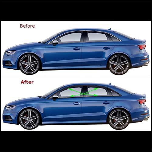 Chrome Delete Vinyl Blackout Kit for 2012-20 Audi A3 S3 Window Trim (Gloss Black)