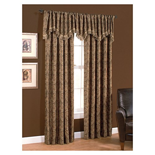 Style Selections Raja 84-in L Multi Mocha Rod Pocket Window Window Curtain Panel