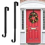 Wreath Hanger,Adjustable Wreath Hanger for Front Door from 14.9-25',20 lbs Larger Door Wreath Hanger Christmas Wreaths Decorations Hook(Black)