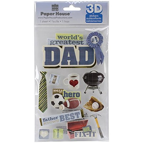 Paper House Productions Dad 3D Stickers