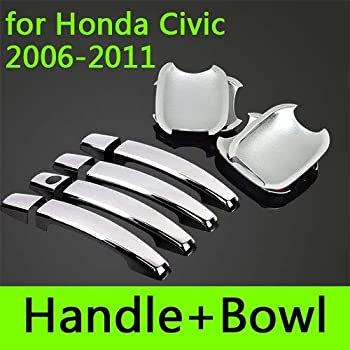Amazon Com Exterior Parts For Honda Fit Jazz Chrome Door Handle Covers Trim Set Of 4pcs 2001 2013 Car Accessories Stickers Car Styling Color For Fit 2008 To 2013 Home Improvement