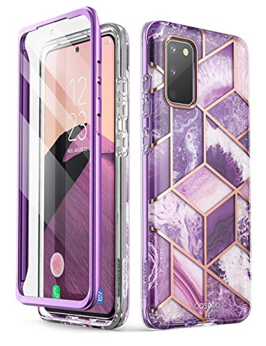 i-Blason Coque Samsung Galaxy S20 FE (2020) [Série Cosmo] Coque Complète Protection Chic Glitter Bumper Antichoc avec Protecteur d'écran Intégré (Améth)