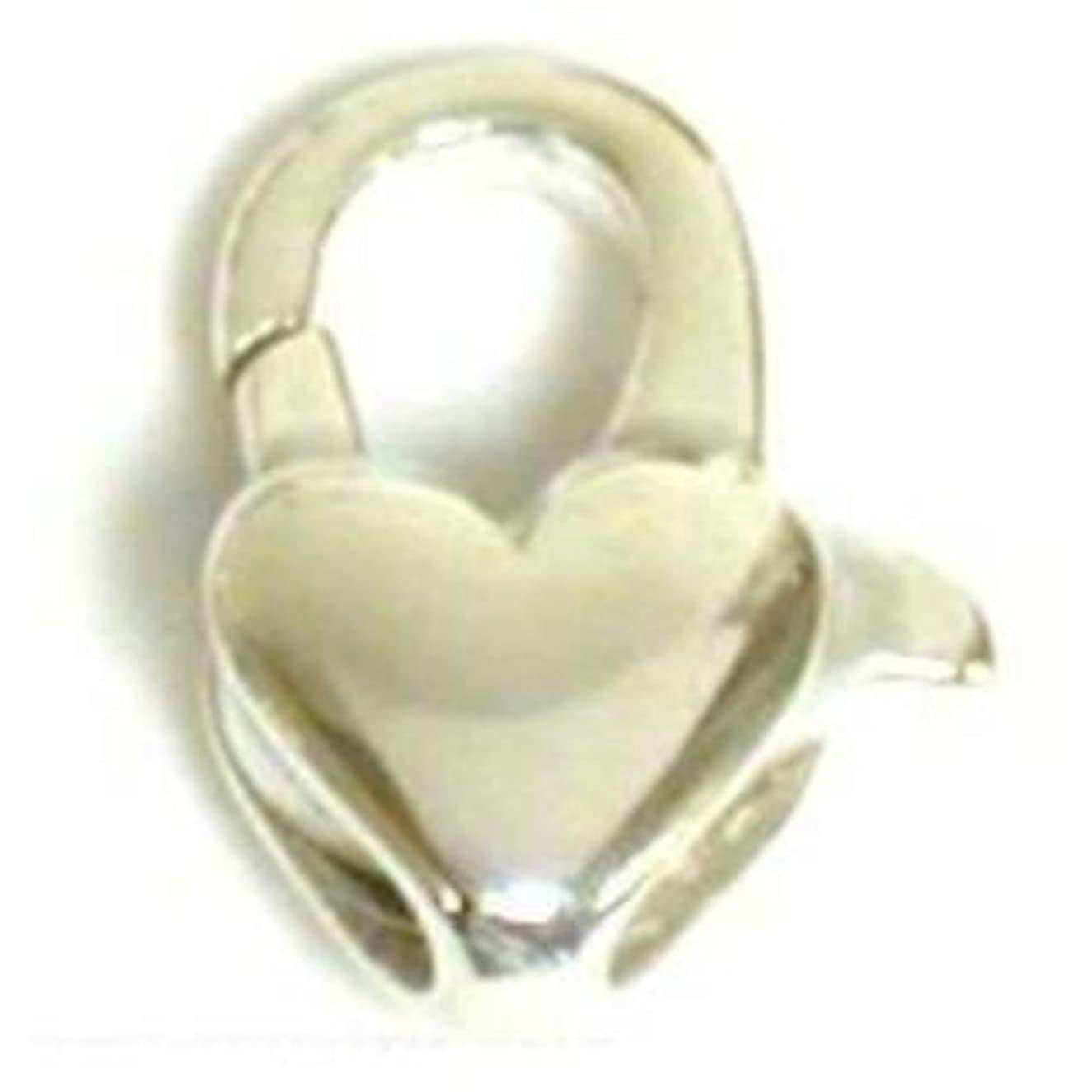 Sterling Silver Heart Lobster Clasp Jewelry Part