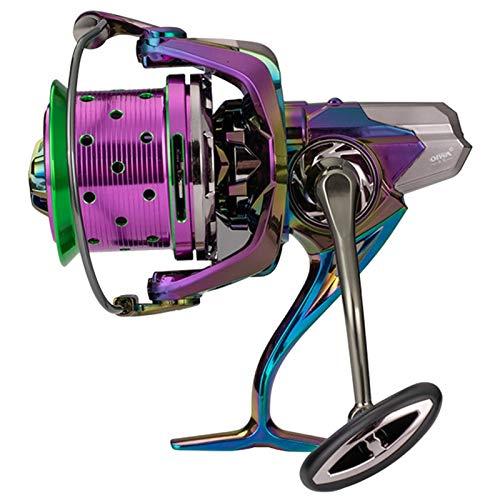 Dazzle Metal Ligero Larga Duradero Carrete De Pesca Pesca Spinning Wheel Accesorios Amigos Familia Compañero De Trabajo (Color : Purple, Spool Capacity : 12000 Series)